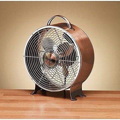 Copper Finish Retro Metal Fan