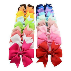 20 Pcs Boutique Girls Kids Alligator Clip Grosgrain Ribbon Hair Bows Clips