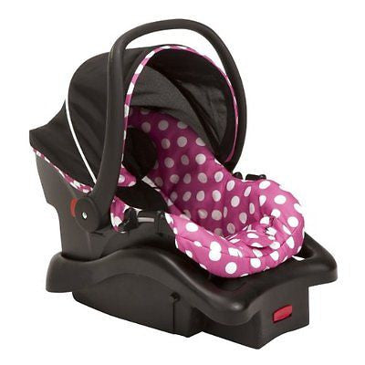 Disney Light 'n Comfy Luxe Infant Car Seat Minnie Dot