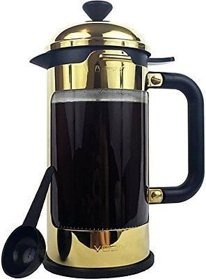 French Coffee Press - 8 Cup Stainless Steel Coffee & Tea Maker