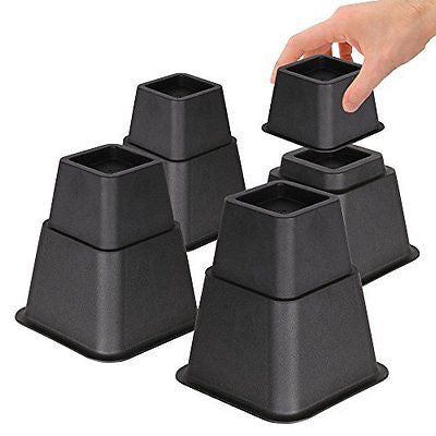 "Adjustable Bed Risers or Furniture Riser in Heights of 8 5 or 3"" Set of 4"