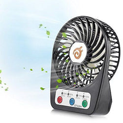 D-FantiX 3-inch Fan 4 Speeds Rechargeable Personal Fan Small Handheld Fan
