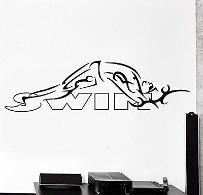 Swim Swimmer Sport Laps Gym Swimming Pool Vinyl Wall Sticker Home Decor Wall