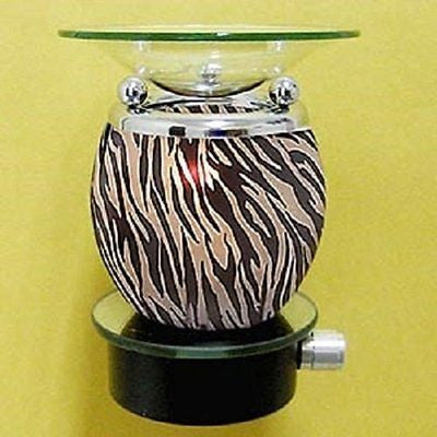 Zebra Animal Print Oil Diffuser Wall Plug in Fragrance Tart Burner Night Light