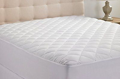 Queens Size  Quilted Stretch-to-Fit Mattress Pad Warranty-Clyne Collection