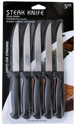 Stainless Steel Steak Knife Set This Set of 5 Steak Knives