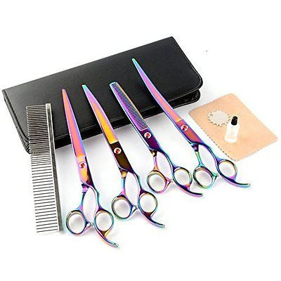 NePets 8.0 inchs high-end Professional PET DOG Grooming scissors suit Cutting