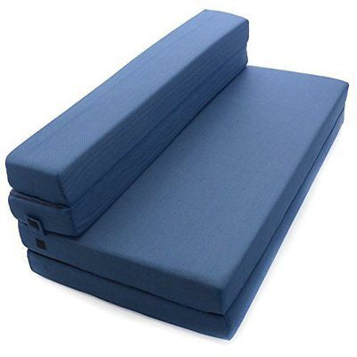 Milliard Tri-Fold Foam Folding Mattress and Sofa Bed for Guests or Floor Mat
