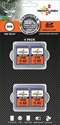 MaxFlash 4GB SD Cards For Trail Cameras 4 Pack ...
