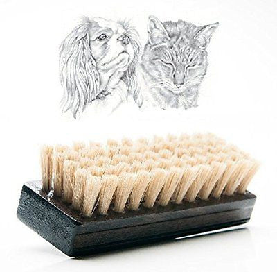 Cat Brush & Dog Brush for Short and Medium Hair, Soft Reinforced Boar Bristle to