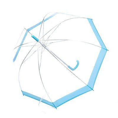 Rainbrace Transparent Bubble Umbrella Auto Open, Fashion Dome Shape