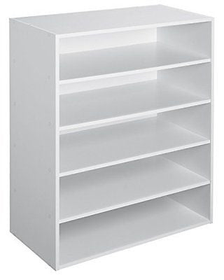 ClosetMaid 1565 Stackable 5-Shelf Organizer, White
