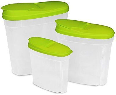 Food Storage Container - Green (3-Pack)- BPA Free -