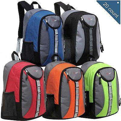 Wholesale 18 Inch Heavy Duty School Backpacks - Case Pack of 20 MGgear Bookbags