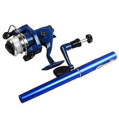 Sougayilang Saltwater Fishing Tackle Pen Shape Rod Pole & Reel Line Combos