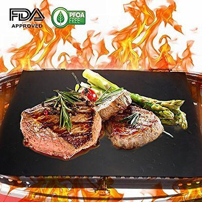Homar BBQ Grill Mats Heavy Duty Barbecue Grill Dishwasher Safe Nonstick