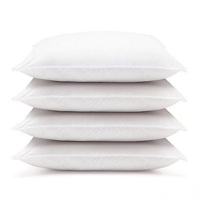 4 Pack Hotel Style Hypoallergenic Down Alternative Value Pillow - Medium/ Firm