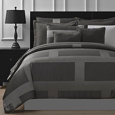 Comfy Bedding Frame Jacquard Microfiber 5-Piece Comforter Set (King Gray)