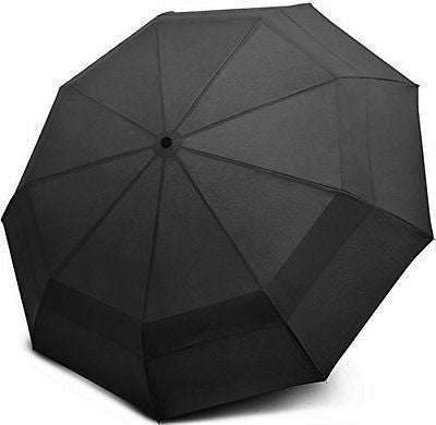 sMrt Double Canopy Windproof Umbrella - Compact Travel Design, Easy to Handle