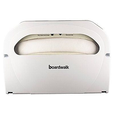 Boardwalk KD100 Wall-Mount Toilet Seat Cover Dispenser, Plastic, White