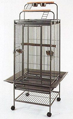 2 Color, New Large Play Top Bird Cage Parrot Finch Macaw Cockatoo Bird Wrought