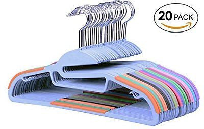 Non-Slip Plastic Clothes HangersSet of 20