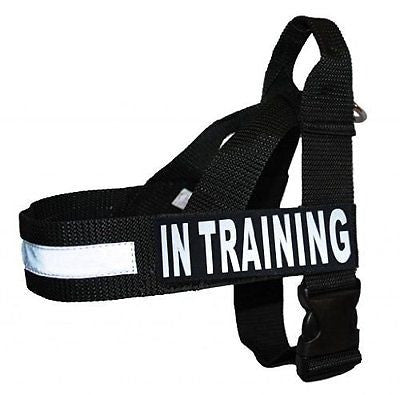 IN TRAINING Nylon Strap Service Dog Harness No Pull IDC Guide Assistance comes