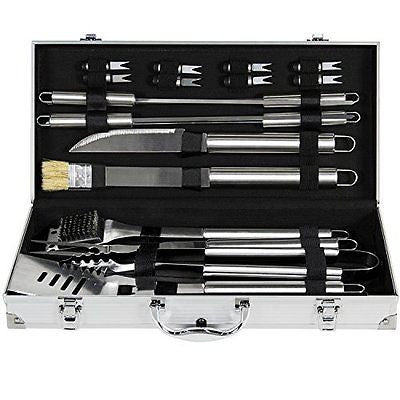 Household Expert 19 PCS Stainless steel BBQ Grill Tool Sets utensils Barbecue