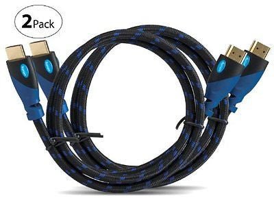 Aurum Ultra Series - High Speed HDMI Cable With Ethernet 2 PACK (4 Ft)