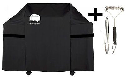 Texas Gas Grill Cover 7553 Premium Cover for Weber Genesis Gas Grill Brush Tongs