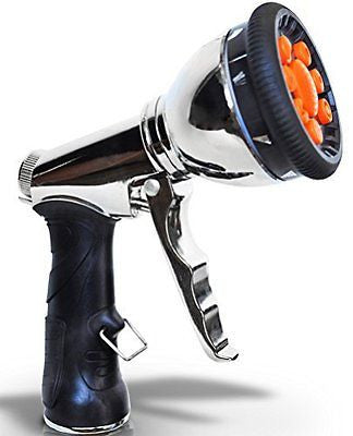Garden Hose Nozzle Hand Sprayer Watering Heavy Duty Pressure Spray.
