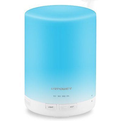 300ml Aroma Essential Oil Diffuser,URPOWER? Ultrasonic Air Humidifier with AUTO