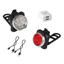 Akale Rechargeable Bike Light Set, Cycling Headlight and Taillight