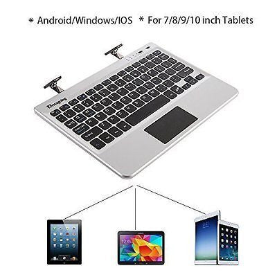 Amagoing Wireless Bluetooth Keyboard Multi-Touchpad Built Autoshrink