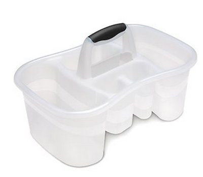 Sterilite Bath Caddy with 5 Compartments, Large, Clear