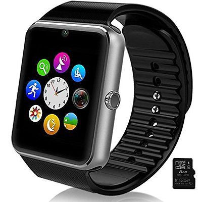 Smart Watch Phone for iPhone and 4.2 Android or Above  Include 8G Micro SD Card