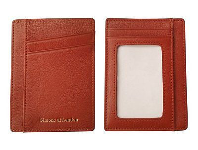 Genuine Leather Go Wallet, Ultra Slim Card/ID Holder, RFID SAFE with Gift Box