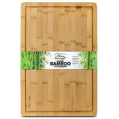 Organic Bamboo [ HEIM CONCEPT ] Extra Large Cutting Board and Serving Tray