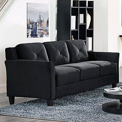 Hartford sofa with Tapered Wooden Legs Piped Stitching Button Tufting Back