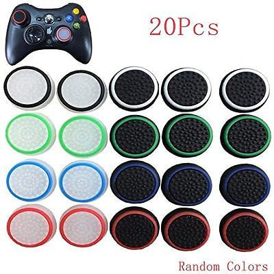 20pcs Colorful Silicone Thumb Stick Joystick Grip Analog Controller Cover Cap