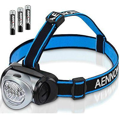 Headlamp Flashlight with Red LED Light - Super Bright Lightweight