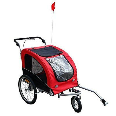 Tenive PU Waterproof Coating Cat/Dog Folding Pet Trailer w/ Suspension