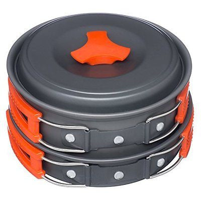 Arcadia Outdoors Cookware Mess Kit for Camping, 11 Piece Cookset, Lightweight