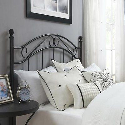 Mainstays Full/Queen Metal Headboard, Black