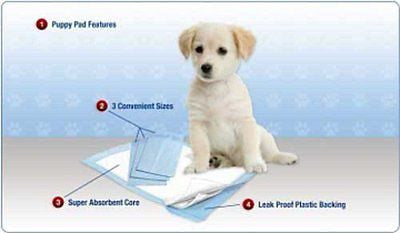 "200 Disposable 23"" x 24"" Housebreaking Pads Chux Absorbant Puppy Dog Pee Trainin"