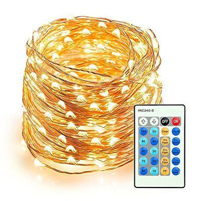 Outdoor String Lights, TaoTronics Dimmable LED String Lights, 66ft Copper Wire