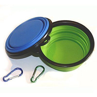 Comsun Collapsible Dog Bowl Food Grade Silicone Foldable Expandable Cup Dish