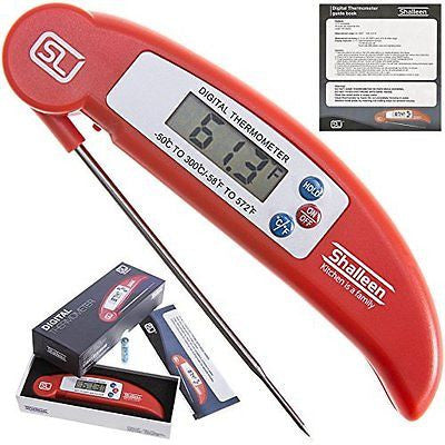 Grillers Instant Read Barbecue Meat Thermometer Collapsible Internal Probe