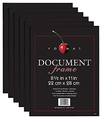 MCS Format Frame, 8.5 by 11-Inch, Black, 6-Pack