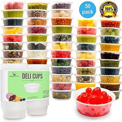 Plastic Food Storage Containers  Kids Lunch Boxes  (8.5oz 50pcs)